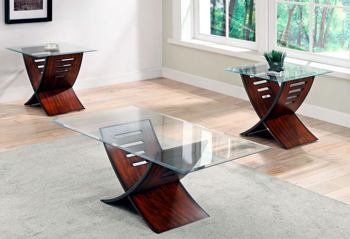 We Are In Love With This Coffee And End Table Set We Just Got In The X Shaped Cherry Finish Bases Combined Wi Coffee Table Coffee Table Setting End Table Sets [ 800 x 1173 Pixel ]