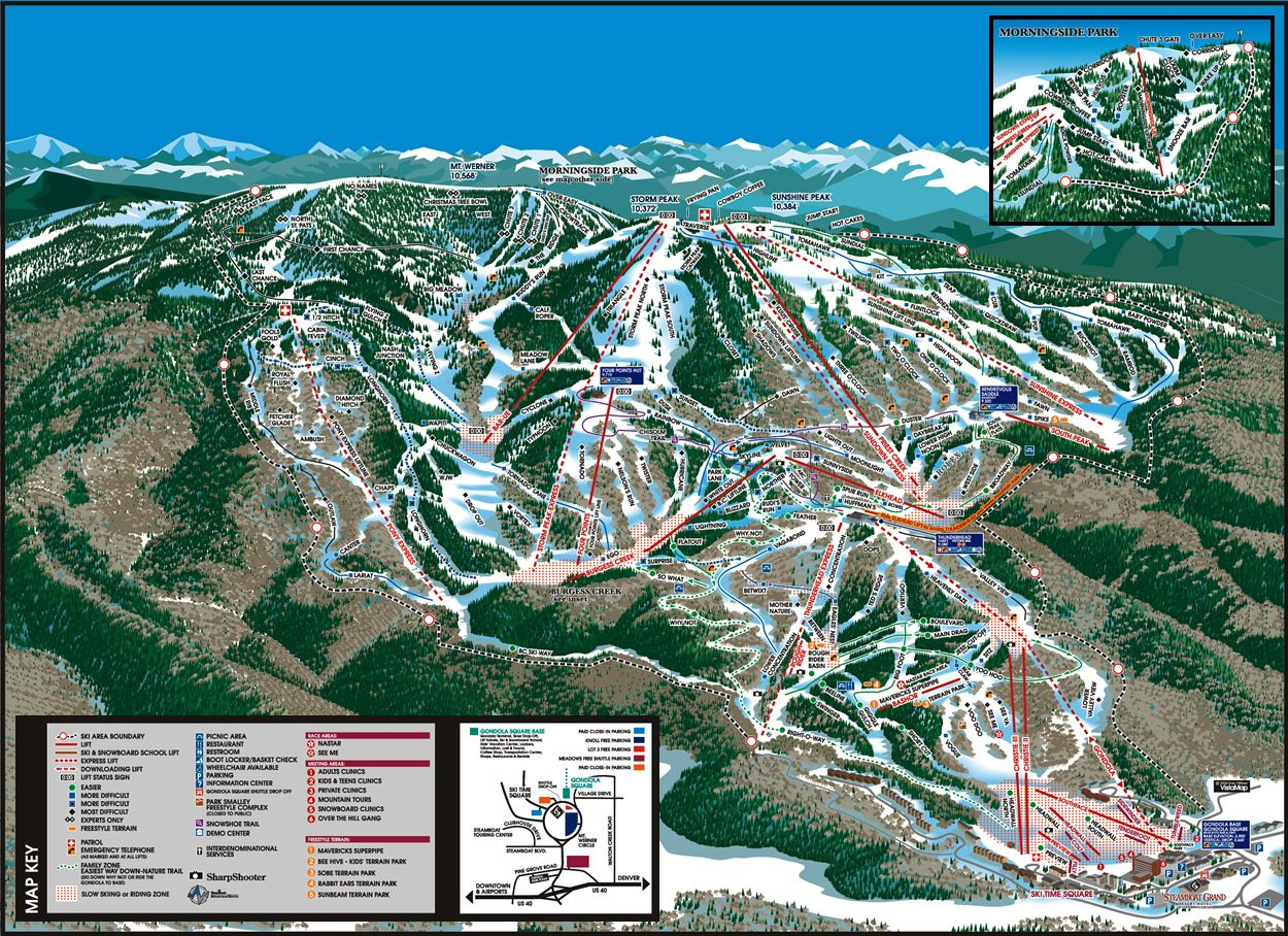 Steamboat Springs Trail Map Steamboat Springs CO Skiing - Map of colorado ski resorts and cities