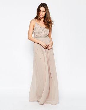 Vila Maxi Dress With Embellished Detail