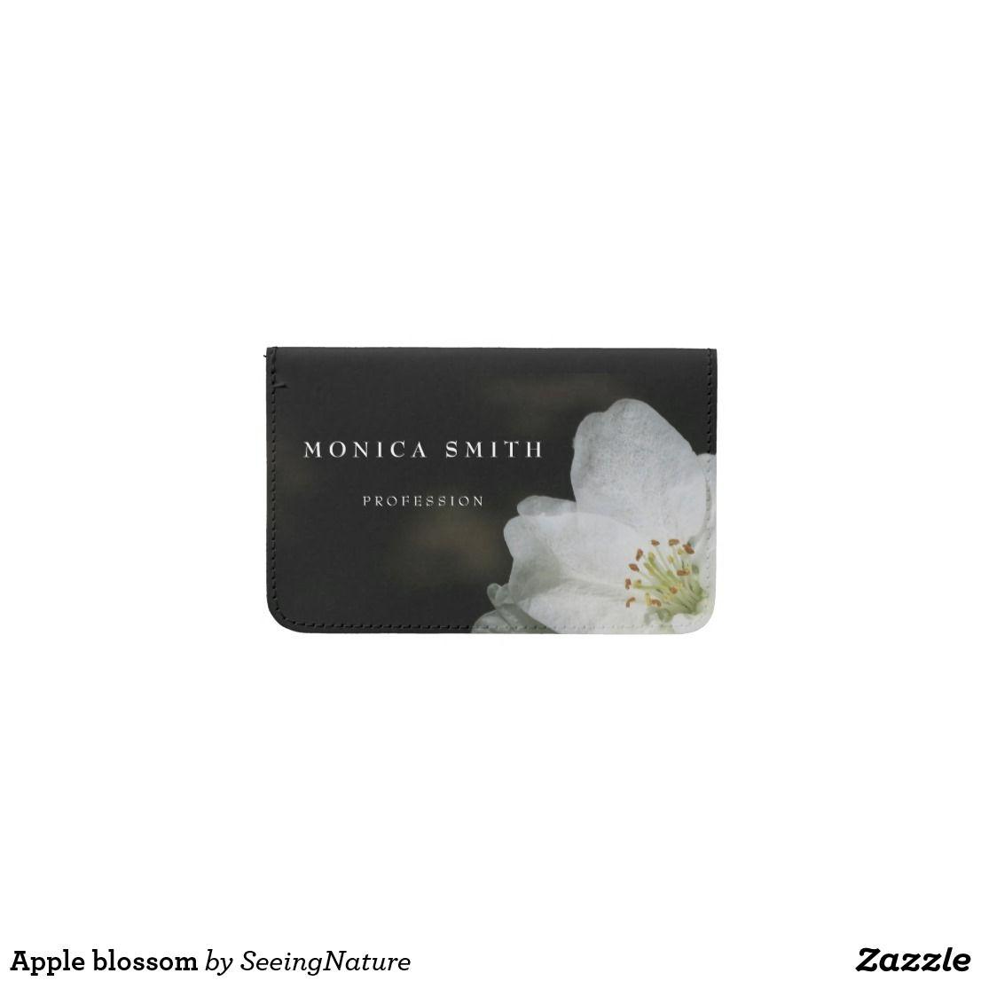 Apple blossom business card holder | Business card holders