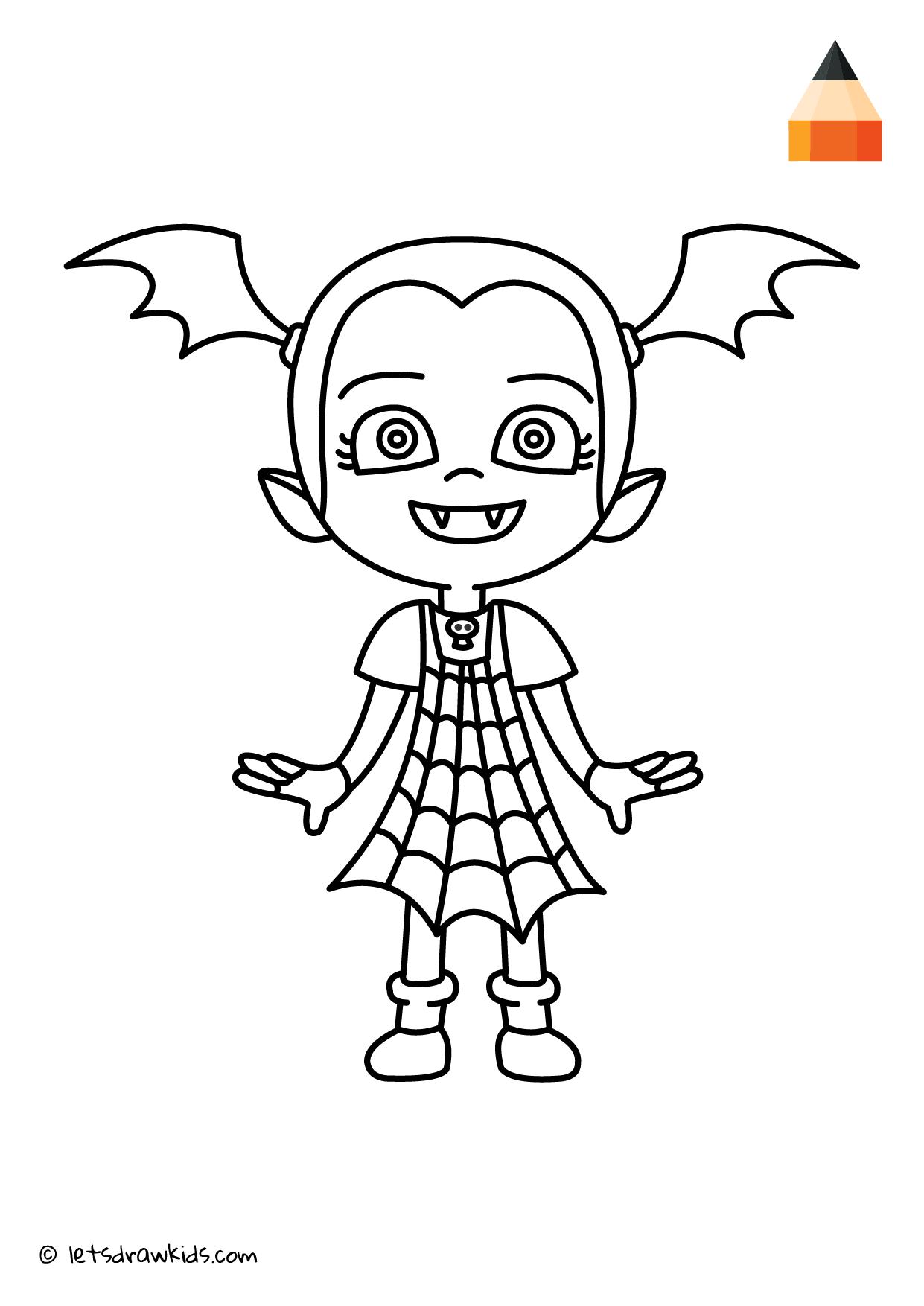 Coloring Page Vampirina Coloring