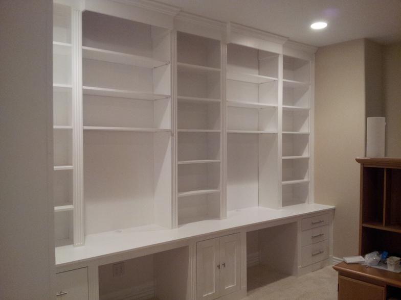 44+ Double desk wall unit info