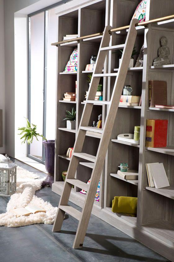 So ando con banak importa escalera bibliotecas y libreros - Librerias con escalera ...