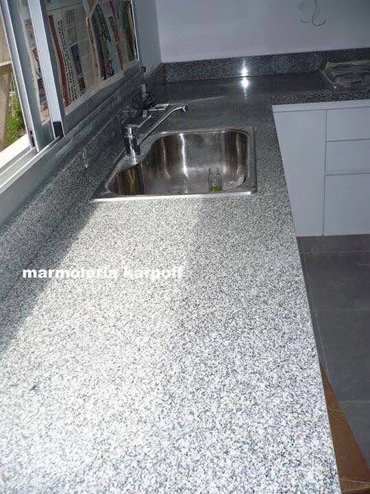 Mesada en granito gris mara casa pinterest - Muebles los leones valencia ...