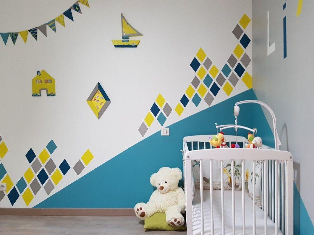 Création Mesenviesdecofr Chambre bébé garçon tendance Peinture
