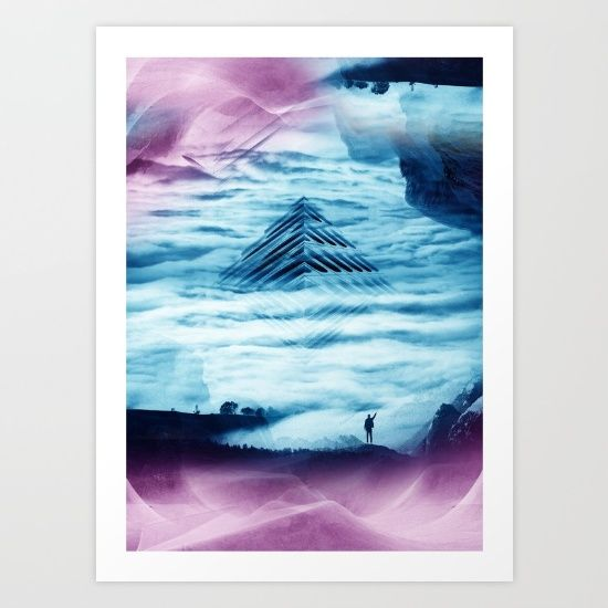 Pyramid Teal https://society6.com/product/pyramid-teal_print#1=45 :) #society6 #stoianhitrov #Pyramid #Teal #art #Apocalypse #SciArt #creative
