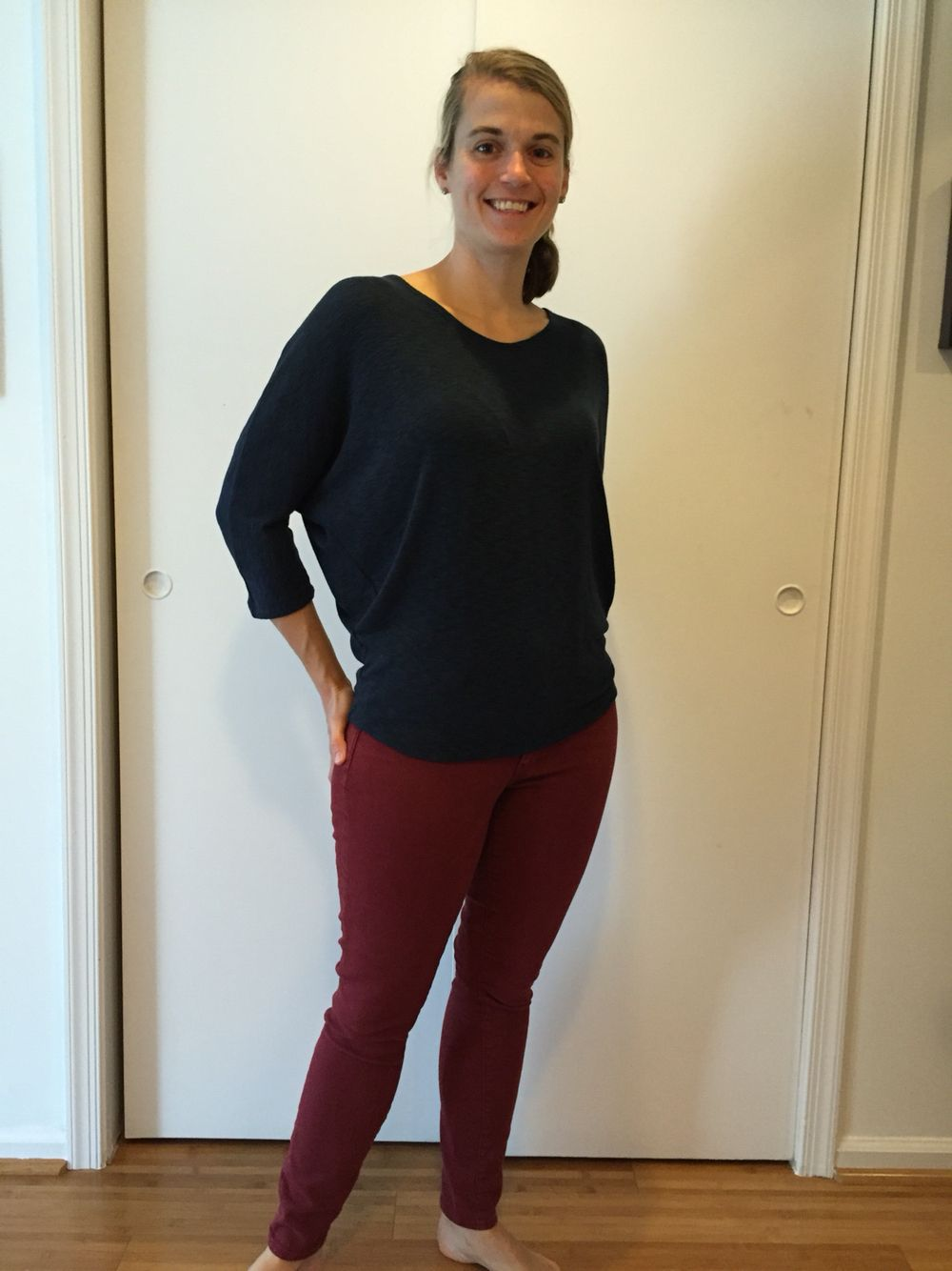 #stitchfix #lailajayde Bowie solid dolman sleeve top which I am not sure if I am going to keep.