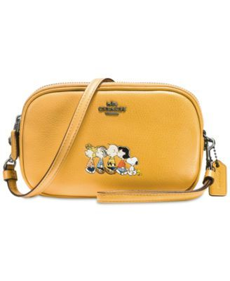 ace0ac89d7 COACH Peanuts  Crossbody Clutch in Refined Natural Pebble Leather with  Snoopy