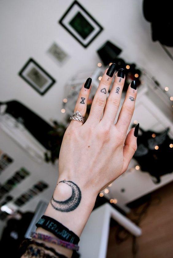 Finger Small Tattoos Rahmen Tattoos Kleine