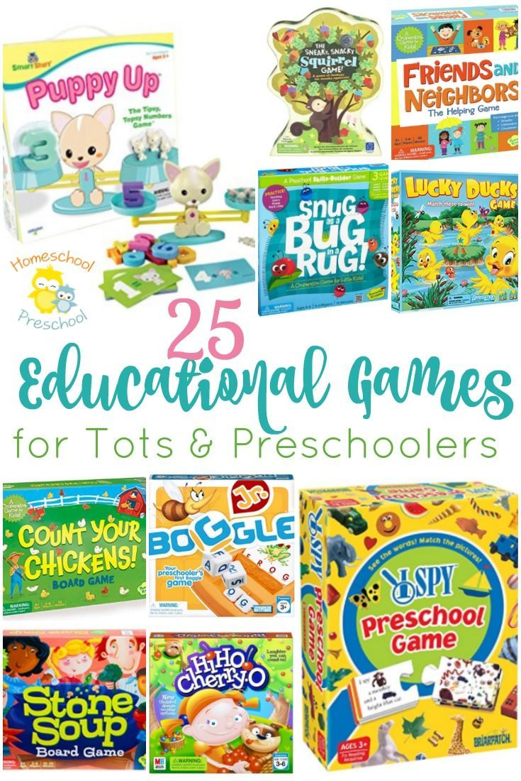 25 of the Best Educational Games for Tots and Preschoolers