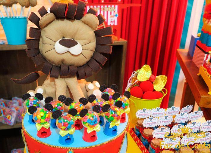 Leao De Feltro Festa Circo Ideias Circo Do Mickey E Decoracao Circo