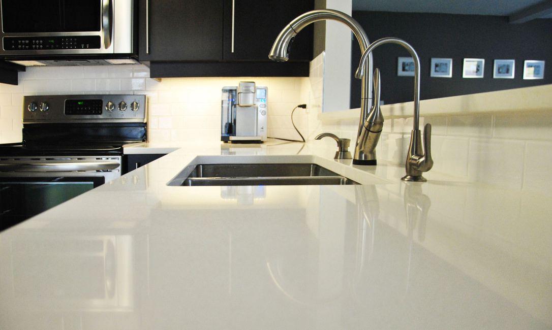Snow White Quartz Countertops Color By Msi Slab White Quartz