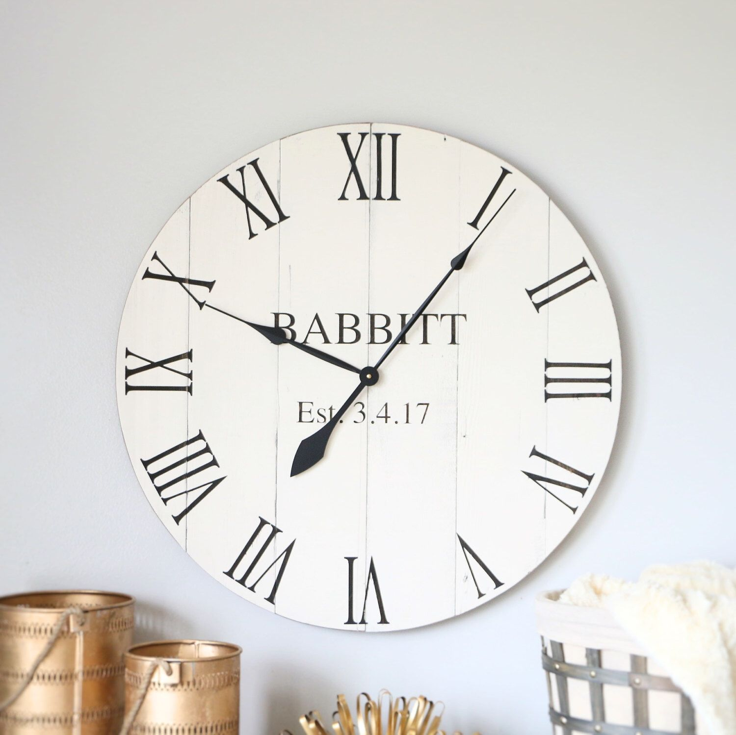 2530 in wall clock personalized gift wedding gift family gift 2530 in wall clock personalized gift wedding gift family gift amipublicfo Choice Image