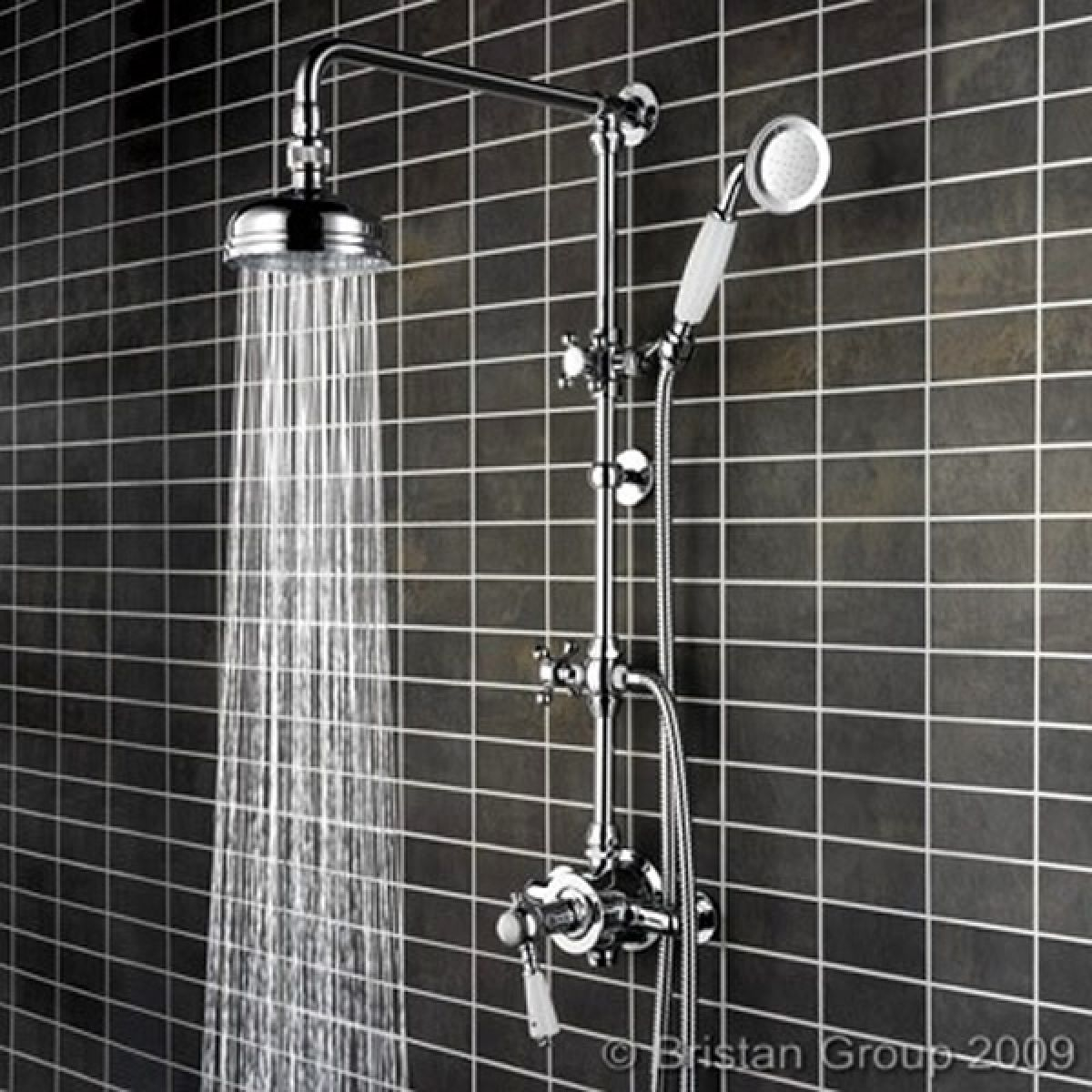 Bristan Cardinal Traditional Shower Mixer With Fixed Head & Diverter ...