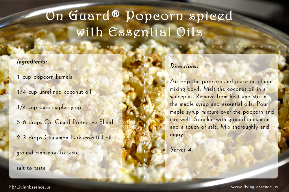 On guard popcorn spiced with essential oils essential oils food on guard popcorn spiced with essential oils forumfinder Choice Image