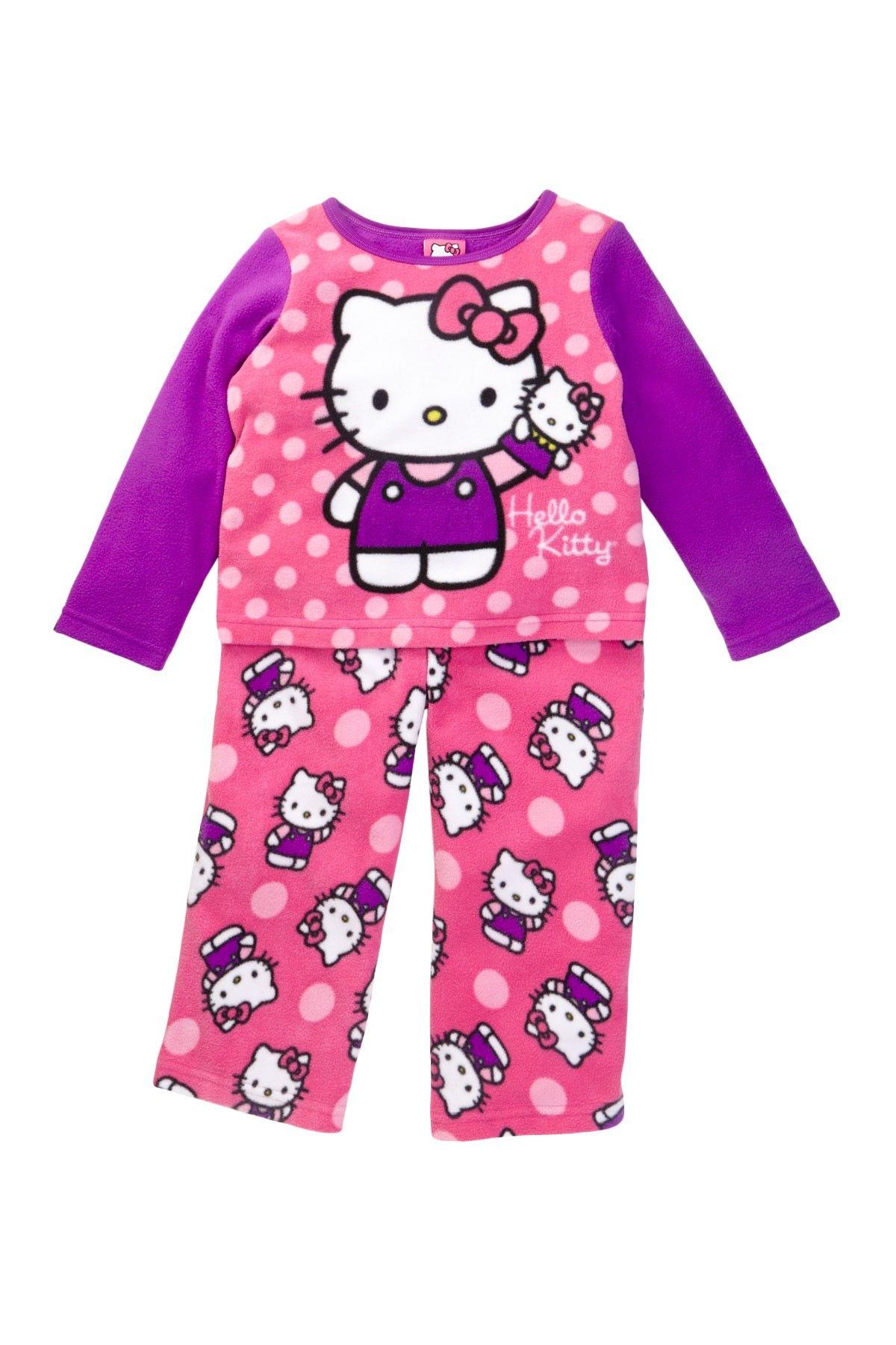 Hello Kitty Fleece Pj Set Toddler Girls Kids With