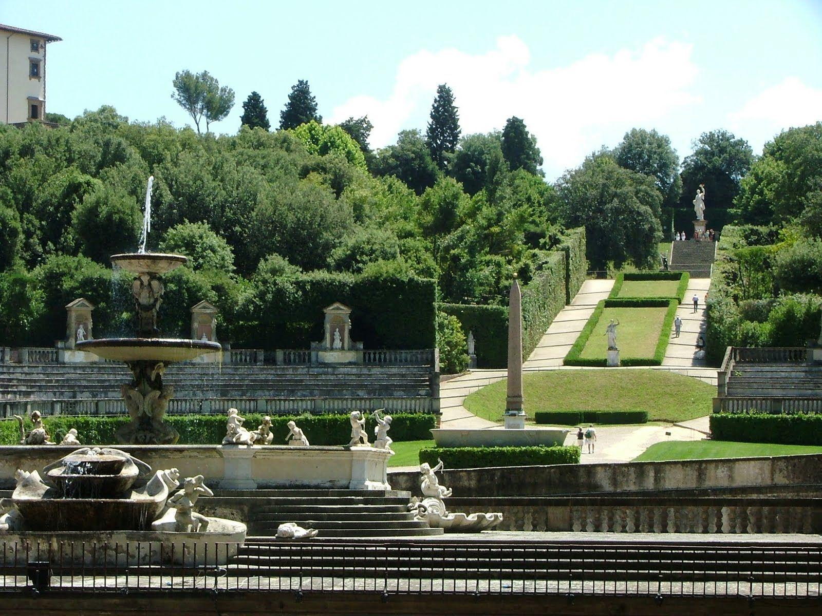 The Pitti Palace Boboli Gardens Florence Italy Splendidi Giardini Bei Posti Firenze