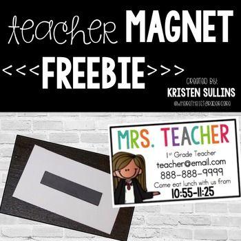 Meet the Teacher Magnet