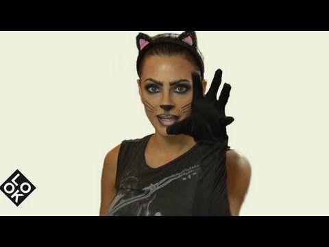 Title Black cat halloween costume, Halloween costumes and Costumes - cat halloween makeup ideas