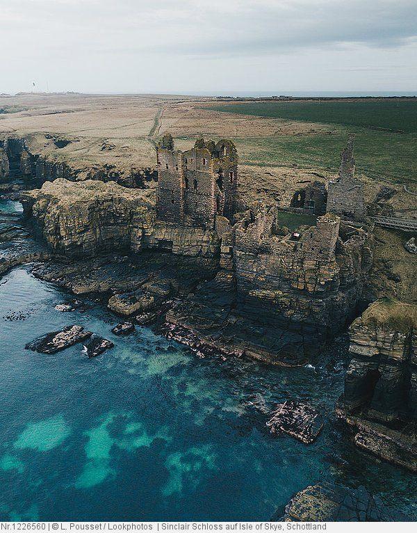 Sinclair Schloss Auf Isle Of Skye Schottland Scotland