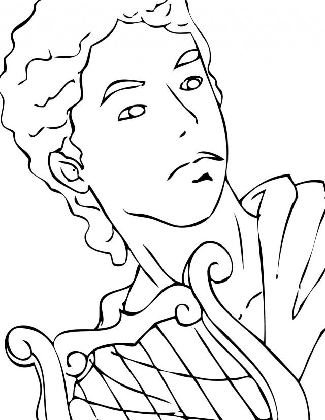 easy to draw apollo coloring coloring pages