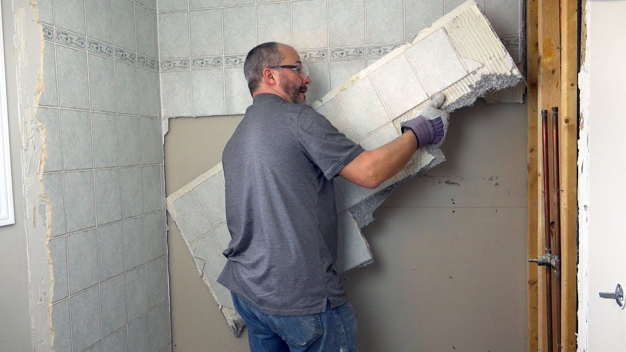 Diy removing your old tile without damaging the tub diy