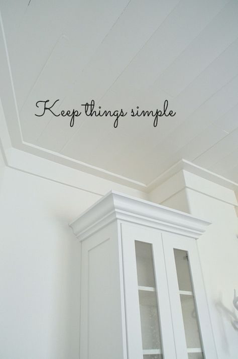 Keep Things Simple A Farmhouse Crown Type Moulding