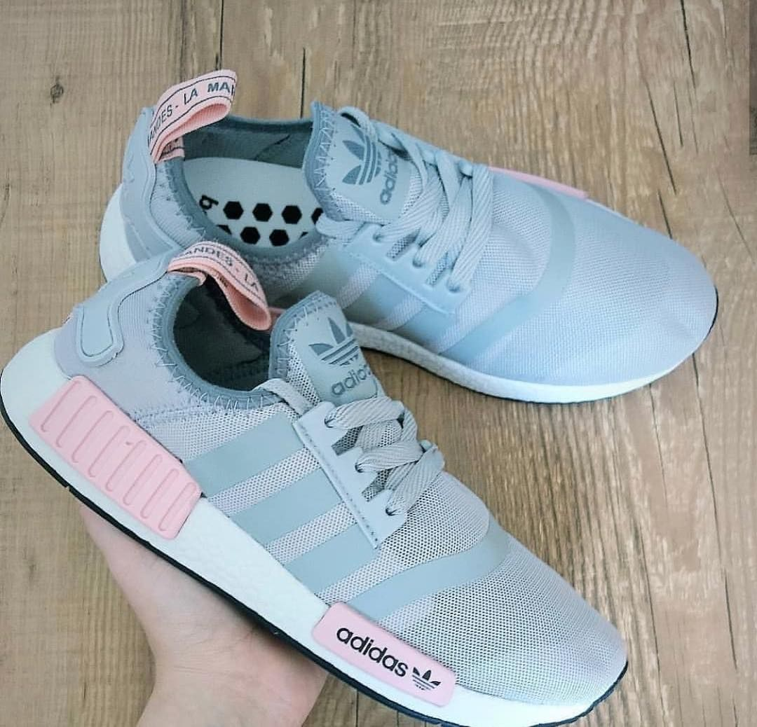 adidas nmd rosa e cinza
