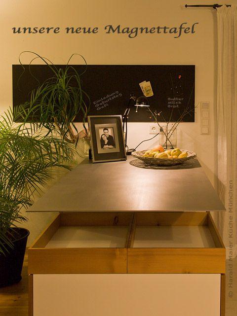 Küche - Küchenideen - Magnettafel über der Kücheninsel ...