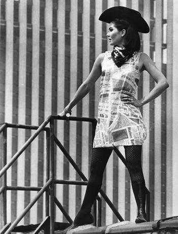 A Houston Chronicle Hot-Off-The-Press dress, 1967. From ...