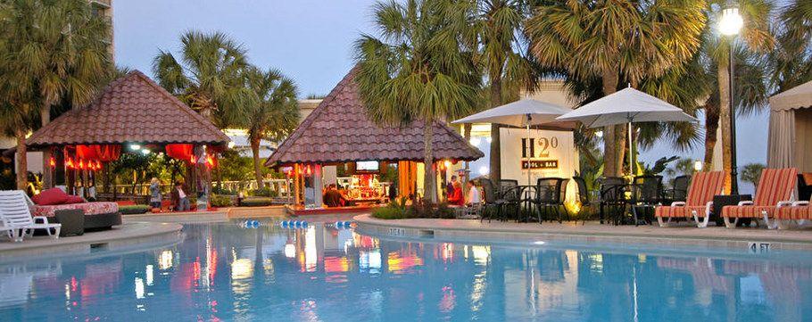 H2o Pool Bar Galveston Nightlife The San Luis Resort Tx