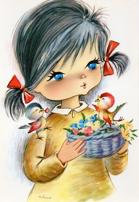 Dibujos infantiles pintados pinterest mu ecas for Dibujos infantiles pintados
