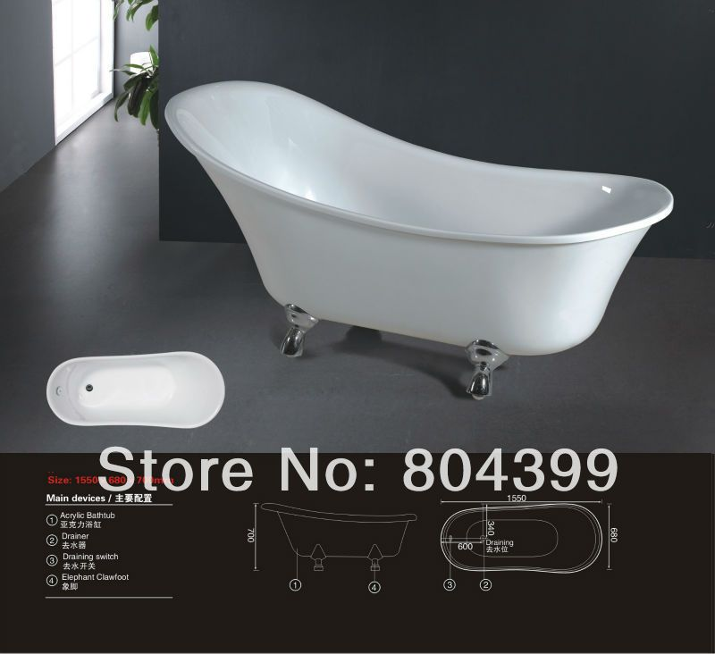 Superb B530 Detox Foot Baths /clawfoot Royal Bath Tub Freestanding Baby Baths Tub  With Four Legs