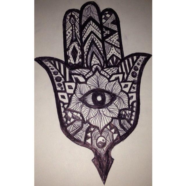 Hamsa Hand Tattoo Sketch Tattoos Piercings Pinterest