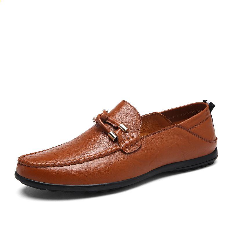 Akz Marki Mokasyny Meskie Obuwie 2018 Wiosna Lato Krowa Skora Oddychajaca Wygodne Lekkie Meskie Mieszkania Buty Duzy Roz Dress Shoes Men Loafers Men Shoes Mens