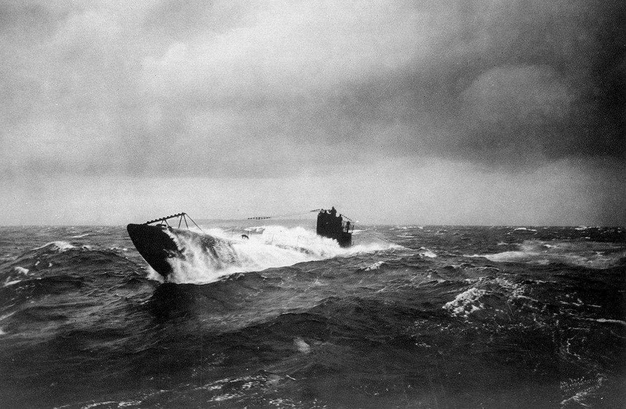 historywars:    The former German submarine UB 148 at sea, after having been surrendered to the Allies. UB-148, a small coastal submarine, was laid down during the winter of 1917 and 1918 at Bremen, Germany, but never commissioned in the Imperial German Navy. She was completing preparations for commissioning when the armistice of November 11 ended hostilities. On November 26, UB-148 was surrendered to the British at Harwich, England. Later, when the United States Navy expressed an interest…