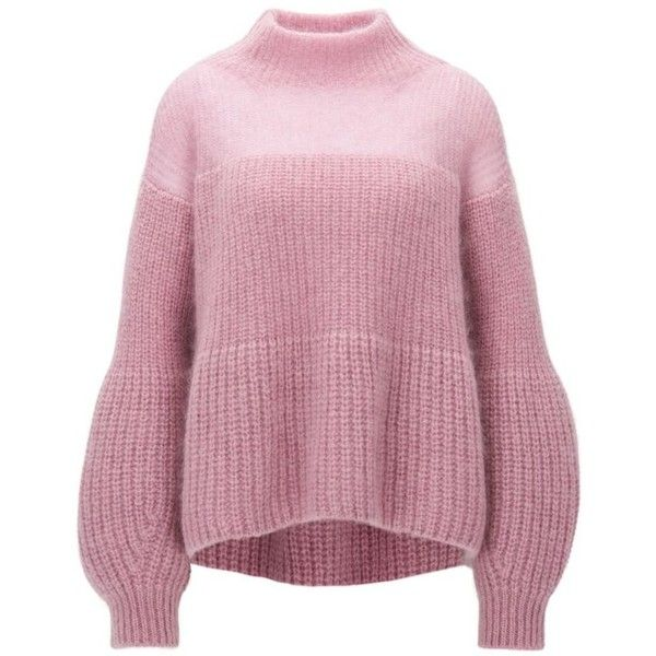 Mohair Blend Chunky Knit Sweater Frieza ($545) ❤ liked on ...