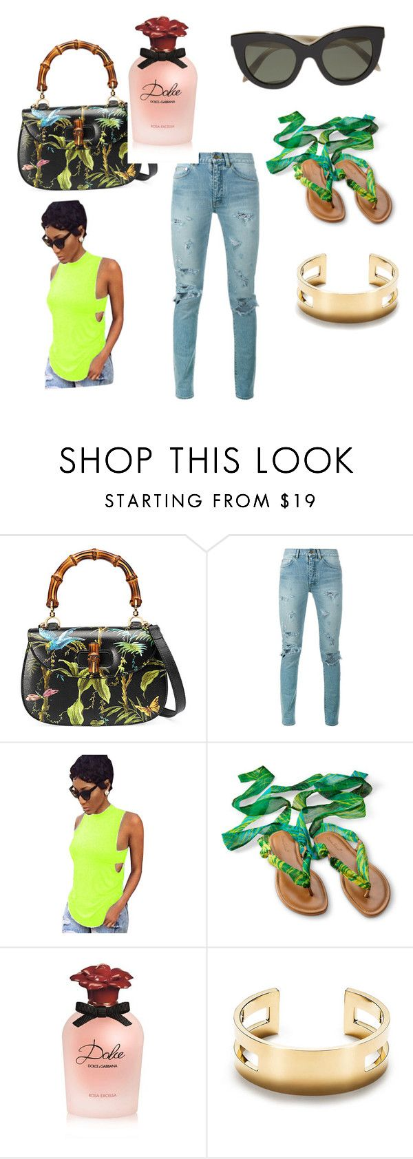 """Untitled #111"" by suggiebrown on Polyvore featuring Gucci, Yves Saint Laurent, Dolce&Gabbana and Victoria Beckham"
