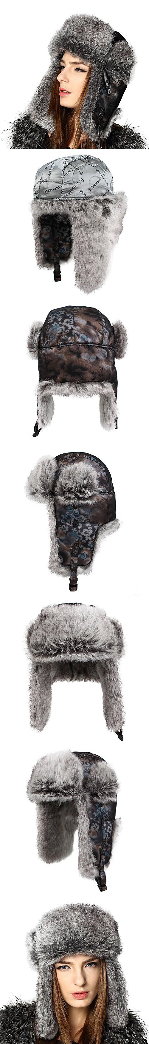 7dc683b7a26 Kenmont Women Lady Winter Warm Ski Outdoor Faux Fur Aviator Trapper Hat  Bomber Cap