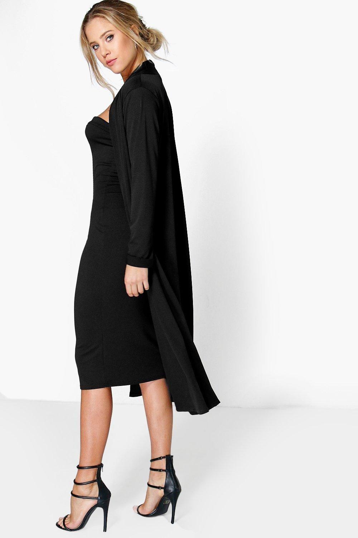 10ae72e0b6c Details about Boohoo Womens Casandra Bandeau Dress   Duster Co-Ord ...