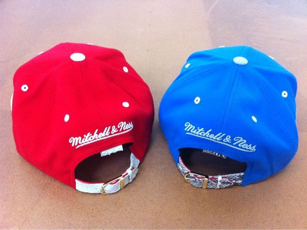 Mitchell   Ness Custom Snakeskin Snapbacks by Don C featuring Kanye West 7feeddab586