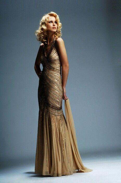 1940 S Hollywood Dress Hollywood Glamour Dress Vintage
