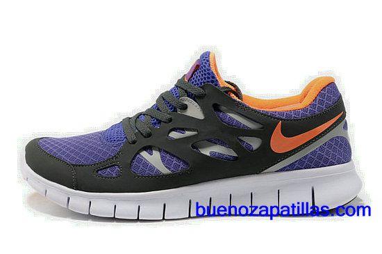 Hombre Nike Free Run 2 Zapatillas (color : vamp - negro , purpura , logotipo
