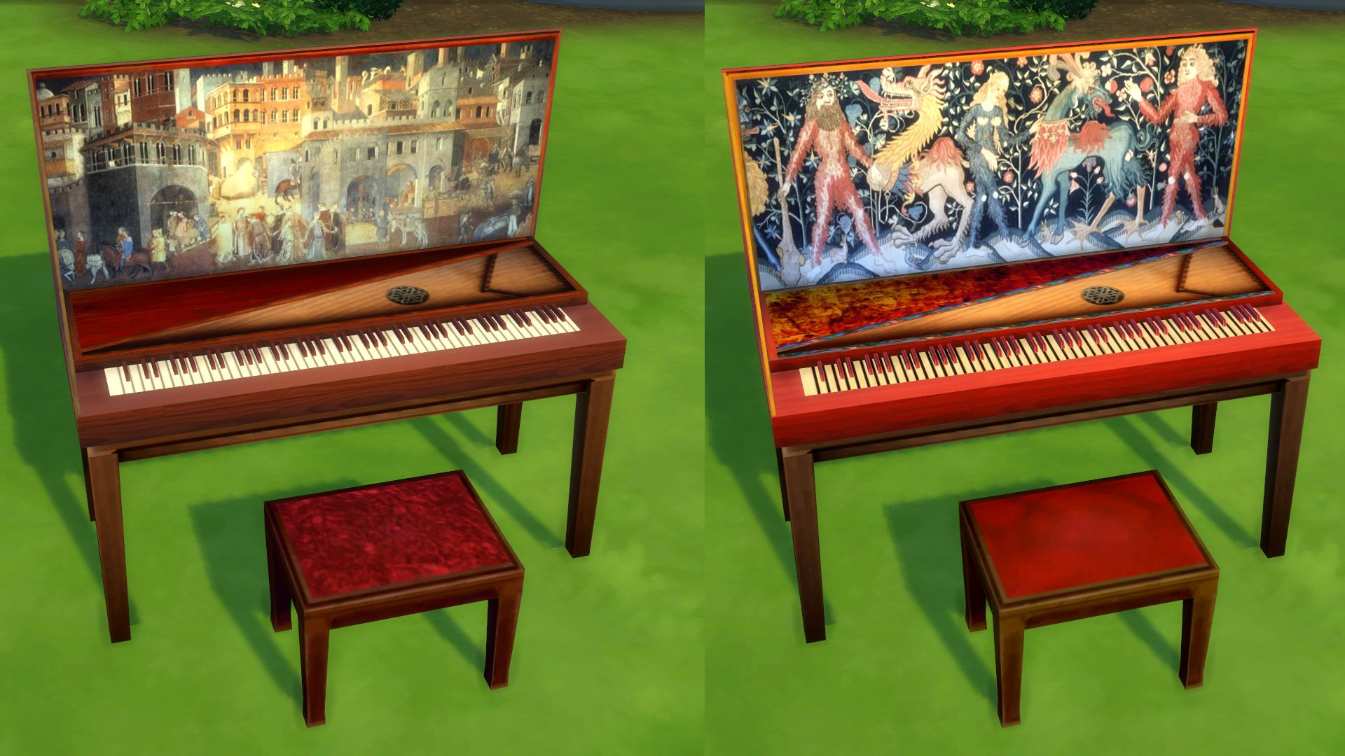 Mod The Sims Medieval/RenaissanceStyle Piano (With