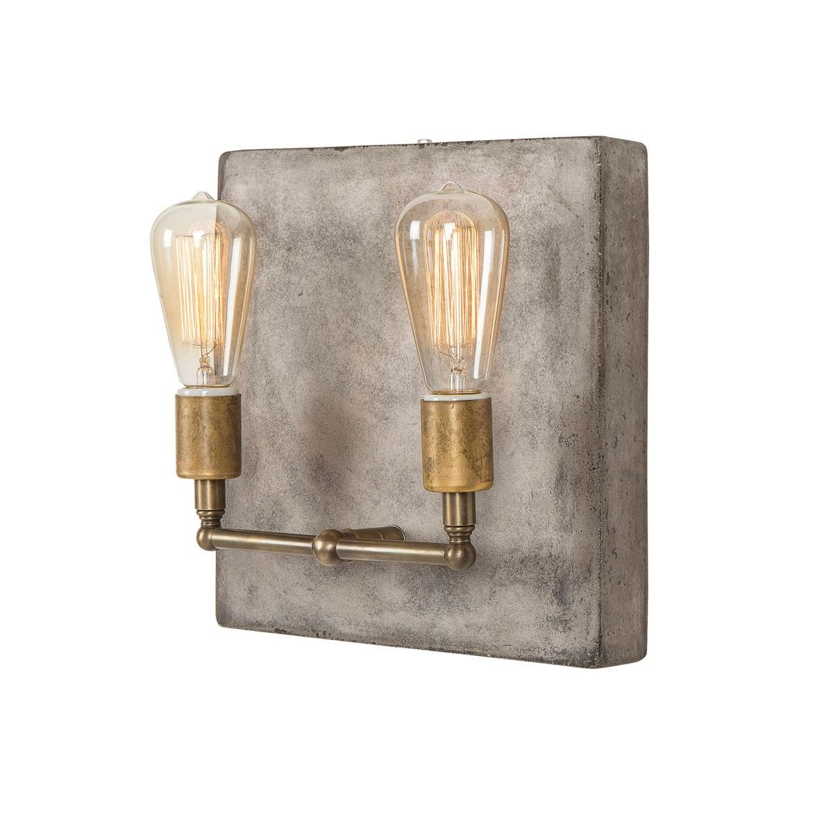 Cement and brass lighting andrew martin cameron double wall cement and brass lighting andrew martin cameron double wall light angle arubaitofo Images