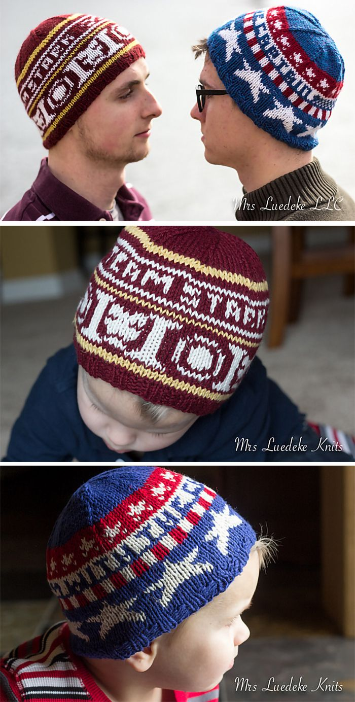 Free Knitting Pattern for Superhero Civil War Hats - Inspired by ...