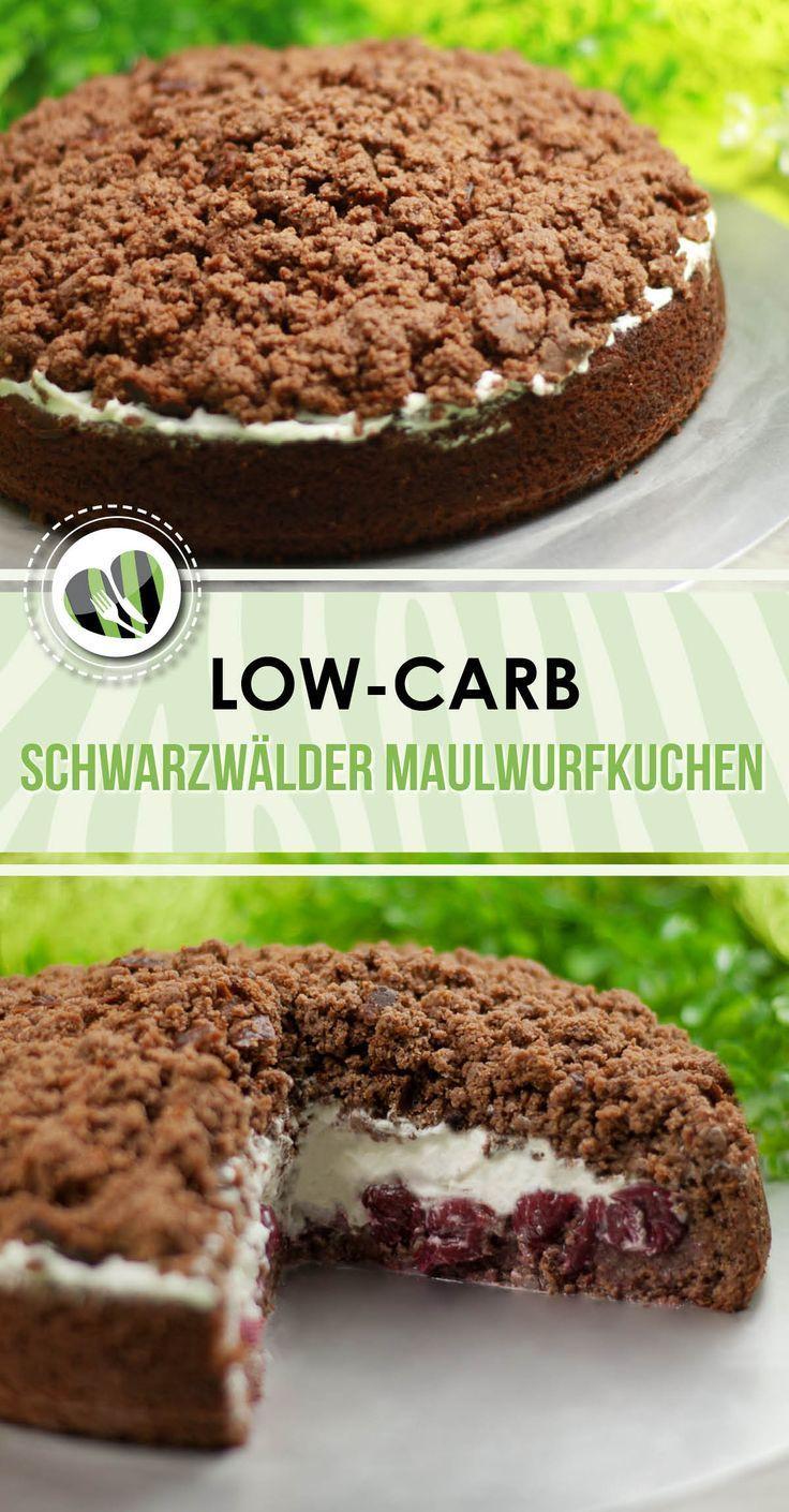 Schwarzwälder Maulwurfskuchen, kohlenhydratarm und ultra lecker   - Zuckerfreie Kuchen- und Torten-Rezepte -