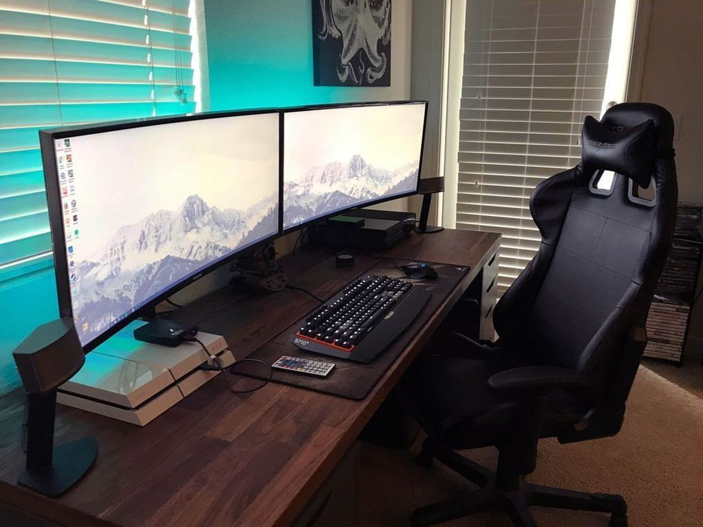 37 The Best Gaming Desk Decor Ideas With Computer Setup Gaming Desk Computer Setup Best Computer Chairs