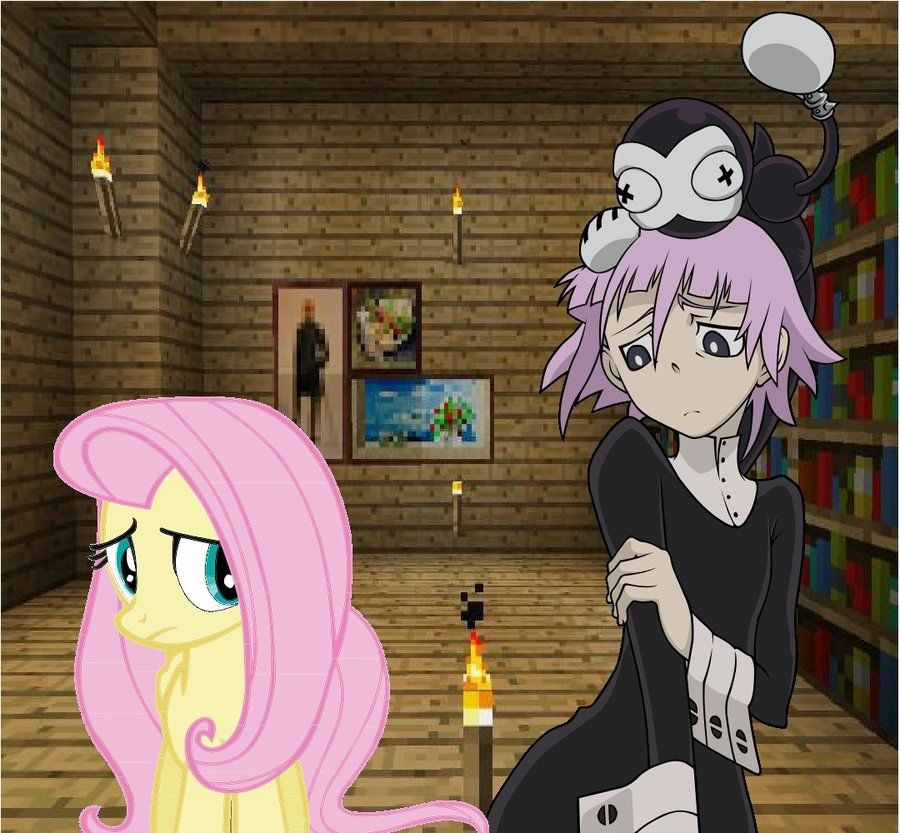 Crona and Fluttershy a shy encounter. Anime, Character