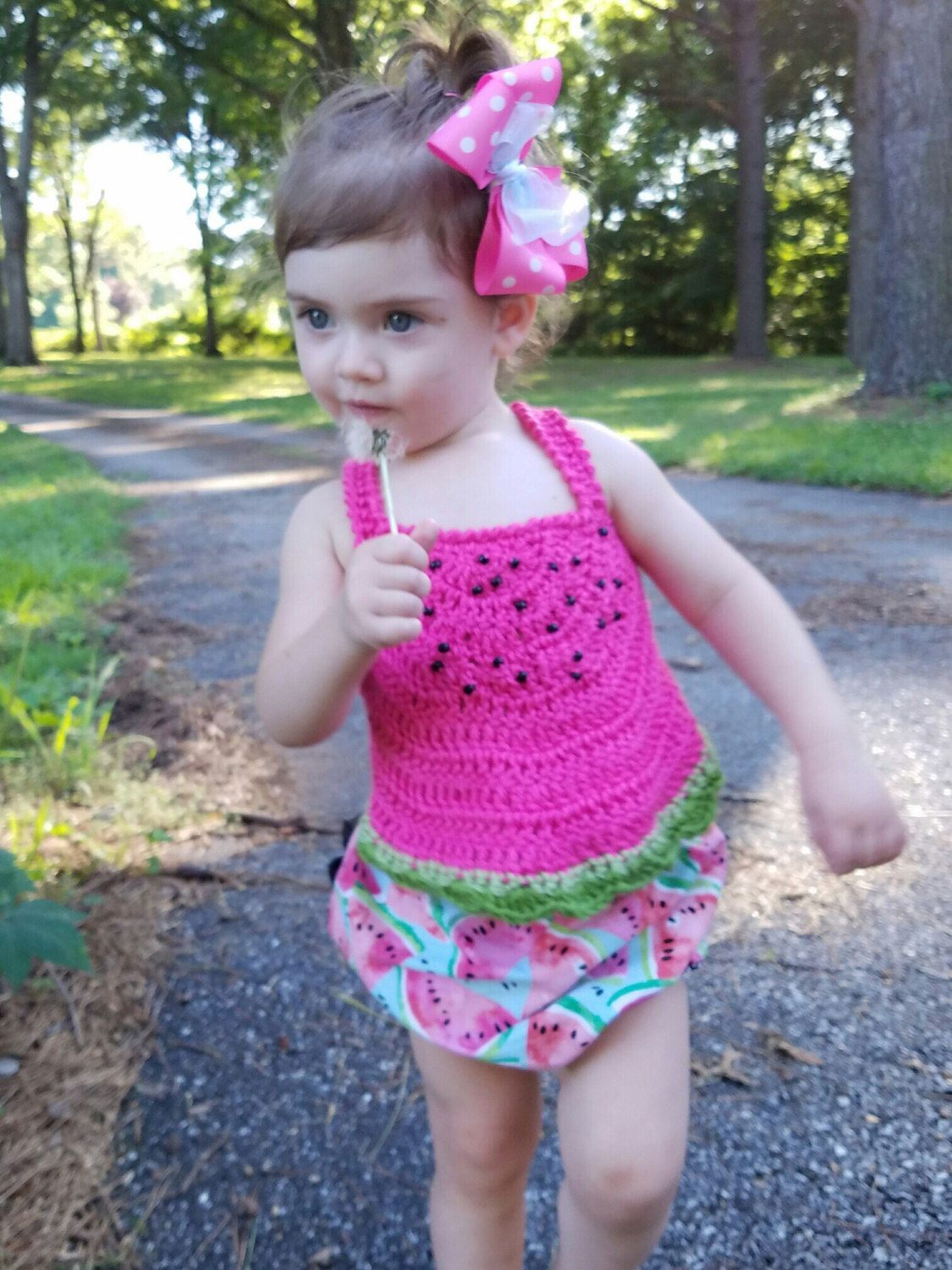 Beautiful crochet dresses for kids trendy - Crochet Summer Top Watermelon Summer Top By Pinkpoppiesstudio